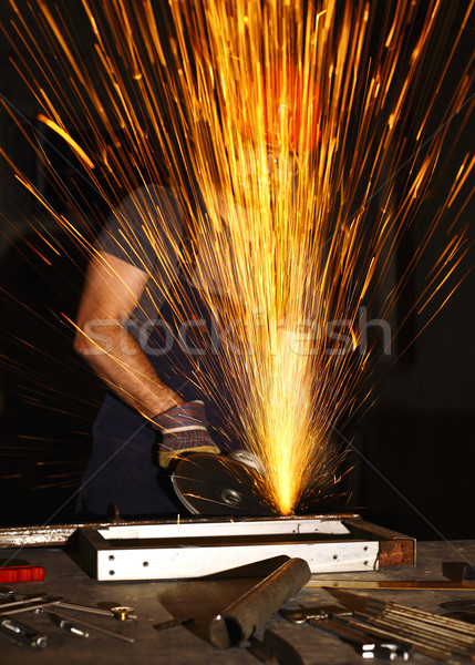 danger at work Stock photo © tiero