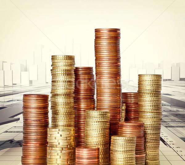 finance background Stock photo © tiero