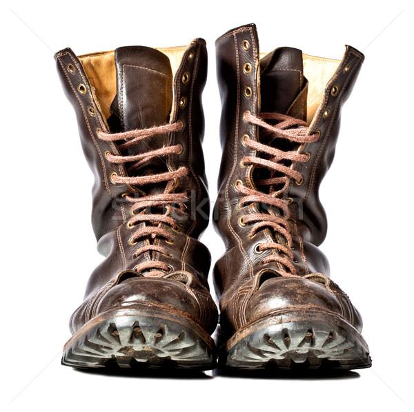 Stock photo: combat boots