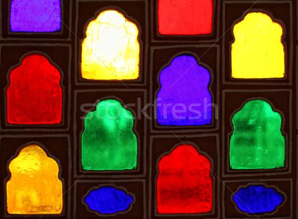 color glass windows Stock photo © tiero