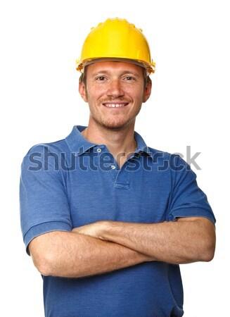 happy manual worker Stock photo © tiero