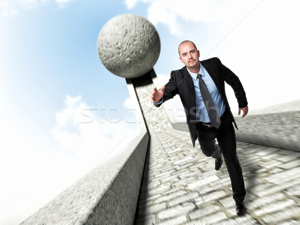 run to survive Stock photo © tiero