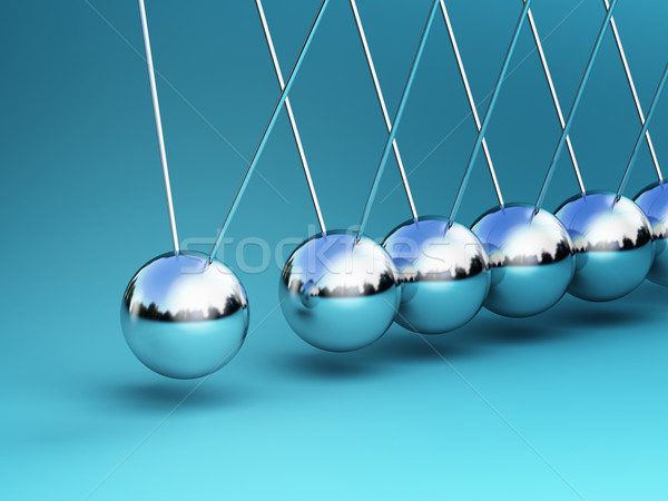 Wieg 3D business groep wetenschap Stockfoto © tiero