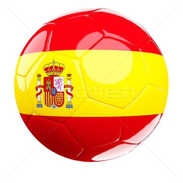 Испания футбольным мячом белый 3D изолированный Сток-фото © tiero