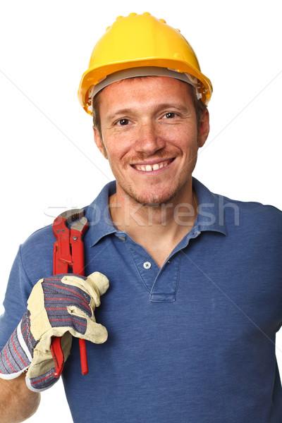 portrait of handyman Stock photo © tiero