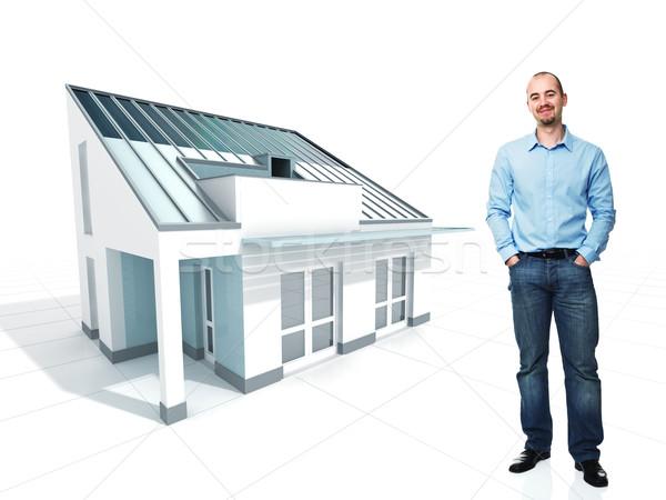 man and his dream house Stock photo © tiero