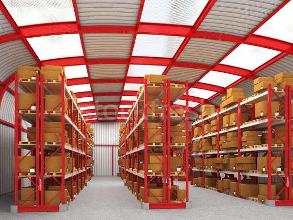 warehouse 3d Stock photo © tiero