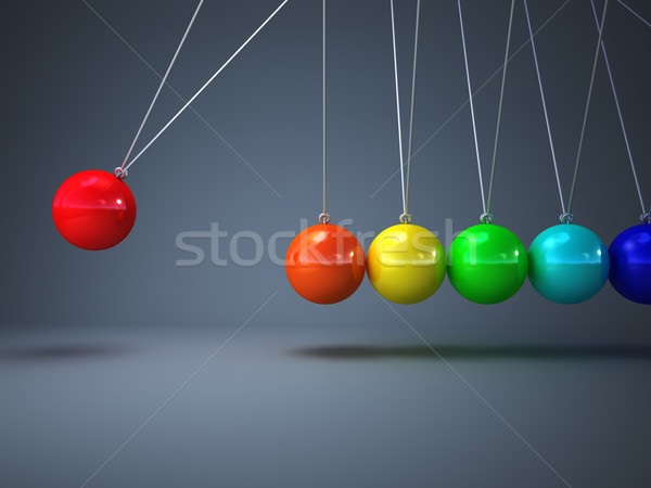 rainbow newton cradle Stock photo © tiero