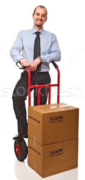 man at work Stock photo © tiero