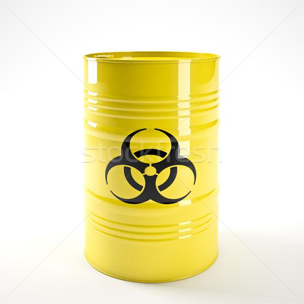 3D изображение желтый химического безопасности Сток-фото © tiero