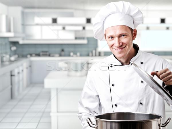 повар портрет кавказский человека равномерный улыбка Сток-фото © tiero