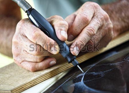 Werk detail hand kunst werknemer Stockfoto © tiero