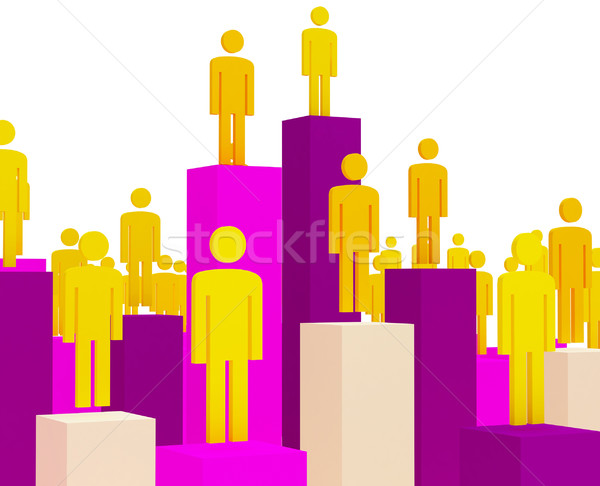Stock photo: 3d business people