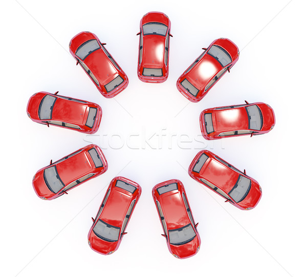 Stock photo: ring of cars