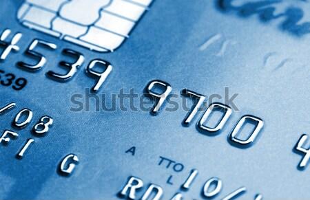 Azul cartão de crédito imagem clássico negócio dinheiro Foto stock © tiero