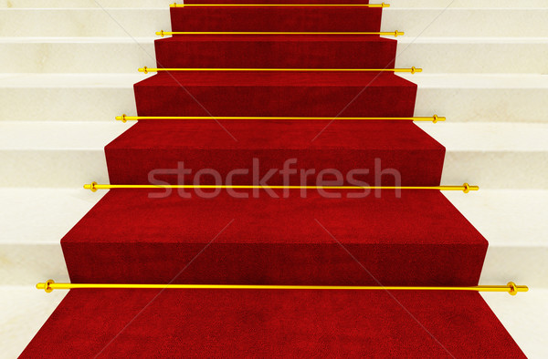 stair and red carpet Stock photo © tiero
