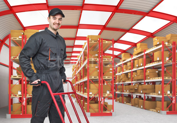 smiling worker Stock photo © tiero