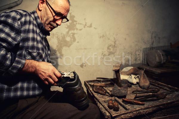 работу старые инструменты стороны человека работник Сток-фото © tiero