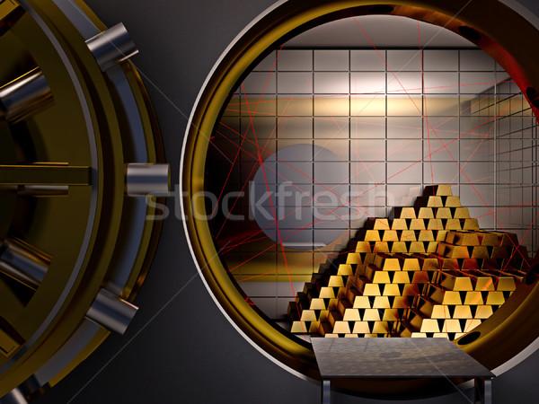 安全 ボールト レーザー 3D 銀行 ビジネス ストックフォト © tiero