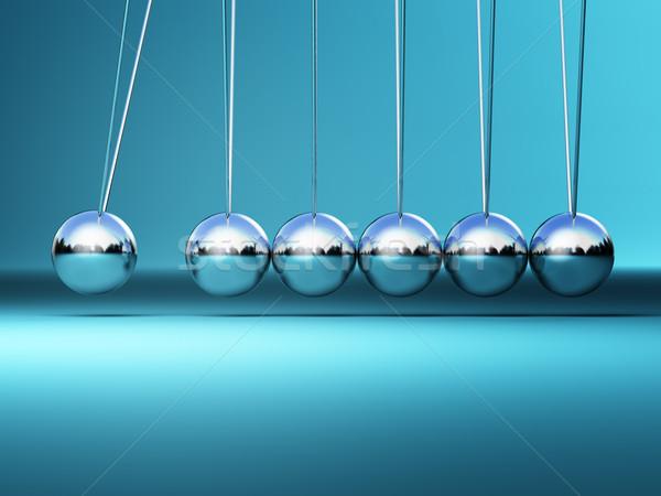 Wieg 3D afbeelding business groep wetenschap Stockfoto © tiero