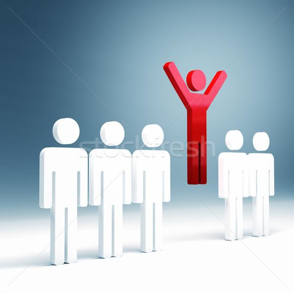 успех люди 3D изображение красный человека Сток-фото © tiero