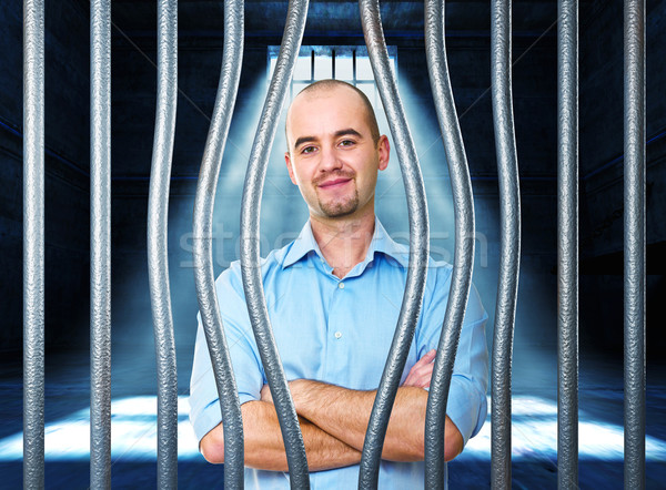 calm man in prison Stock photo © tiero