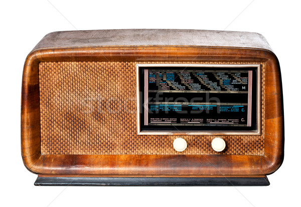 vintage radio Stock photo © tiero