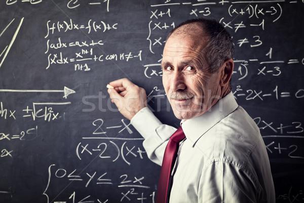 старший учитель портрет кавказский школы работу Сток-фото © tiero
