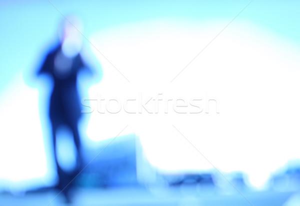 Hombre resumen imagen azul luz Foto stock © tiero