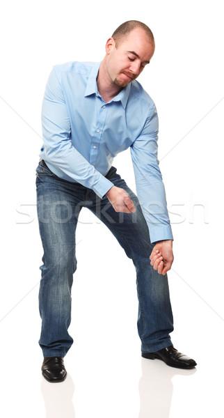 Homem dever caucasiano homem de negócios posição Foto stock © tiero