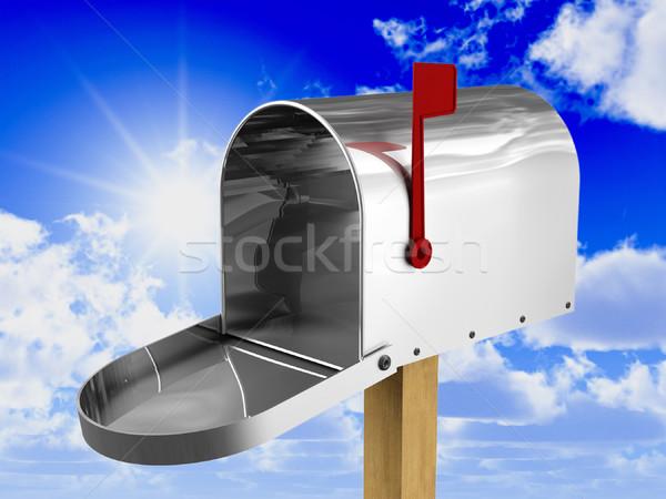 Mailbox 3D afbeelding klassiek amerikaanse metaal Stockfoto © tiero
