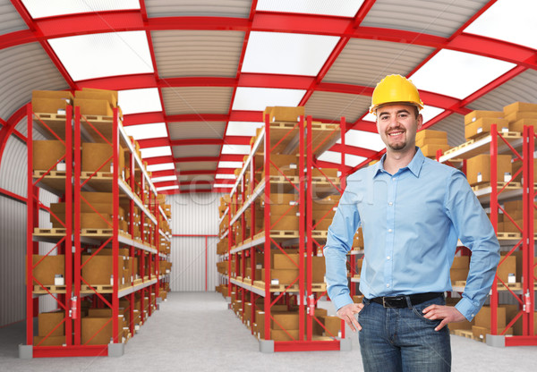 man in warehouse Stock photo © tiero
