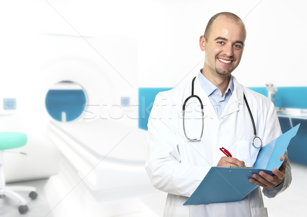 young doctor in hospital Stock photo © tiero