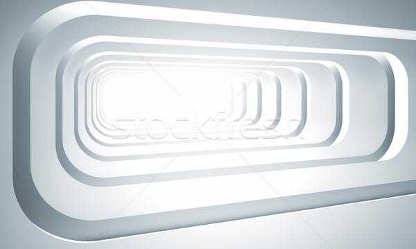 Futuriste tunnel 3D image résumé affaires Photo stock © tiero