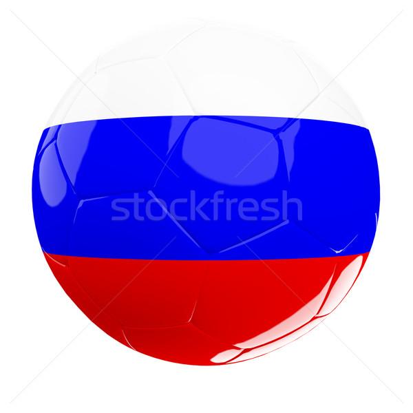 Oroszország futballabda orosz futball 3d labda izolált Stock fotó © tiero