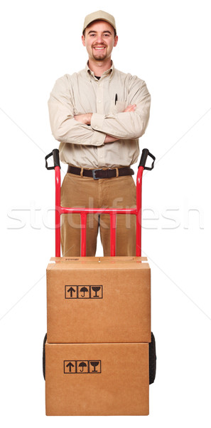 delivery man portrait Stock photo © tiero