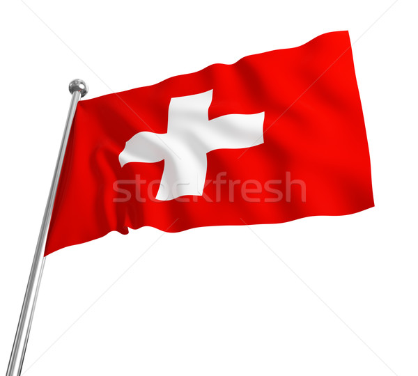 swiss flag Stock photo © tiero