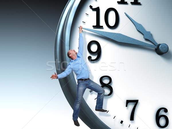 Zaman sorun adam 3D saat iş Stok fotoğraf © tiero