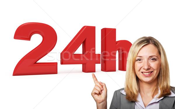 24 dienst 3D afbeelding glimlachende vrouw vrouw Stockfoto © tiero