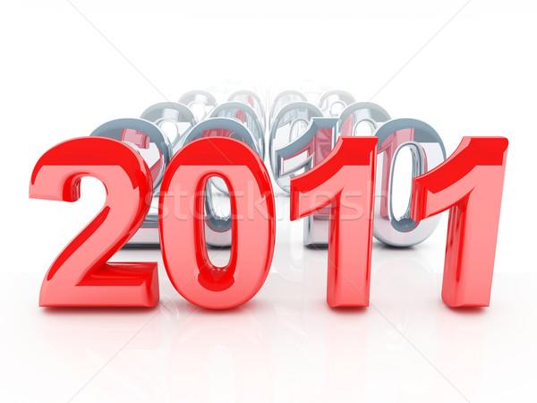 2011 3D edad gris año resumen Foto stock © tiero