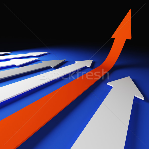 grow arrow stat Stock photo © tiero