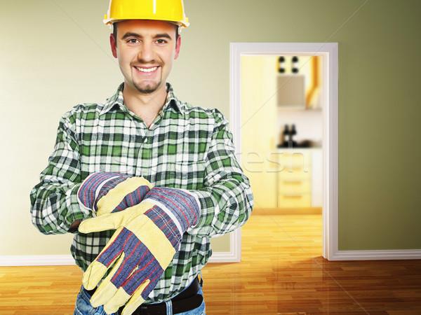 Manitas trabajo sonriendo listo interior 3D Foto stock © tiero