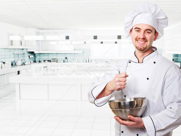 シェフ 義務 肖像 白人 現代 キッチン ストックフォト © tiero