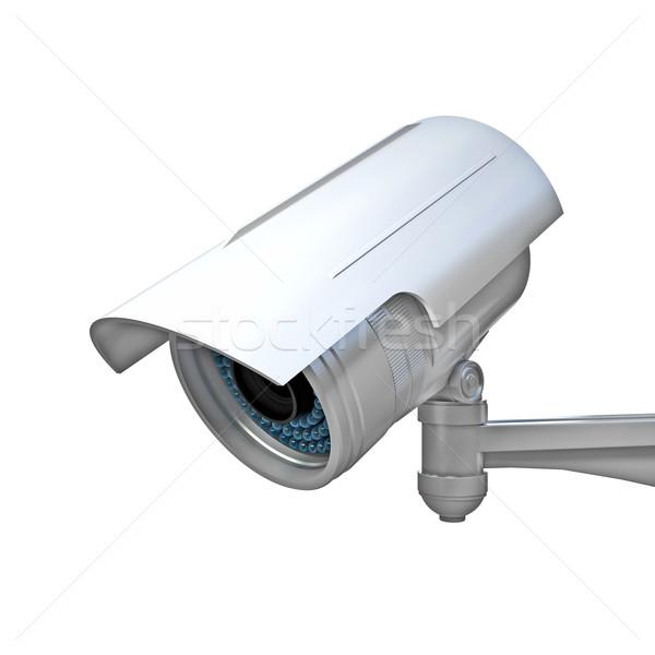 Cctv witte 3D afbeelding klassiek infrarood Stockfoto © tiero
