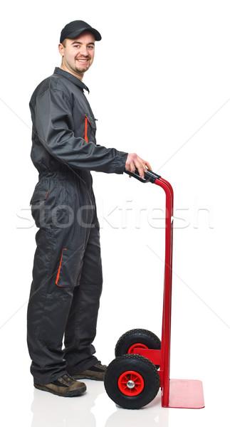 worker with handtruck Stock photo © tiero