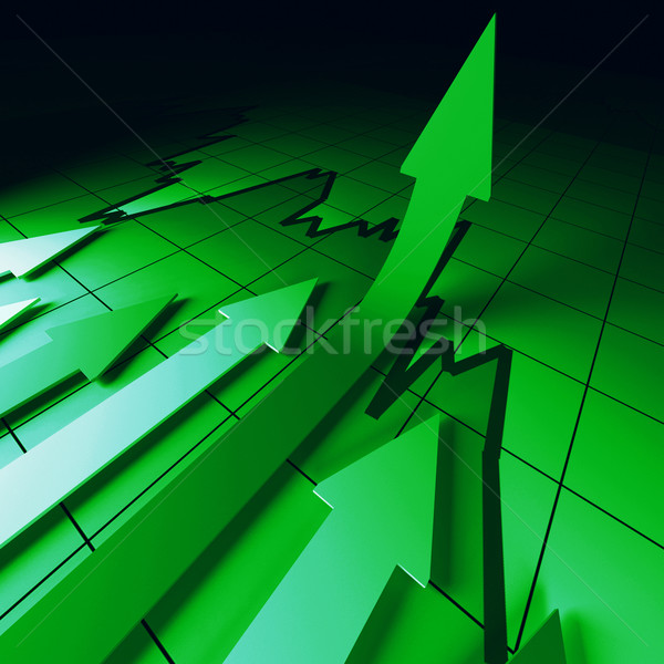 green arrows chart Stock photo © tiero