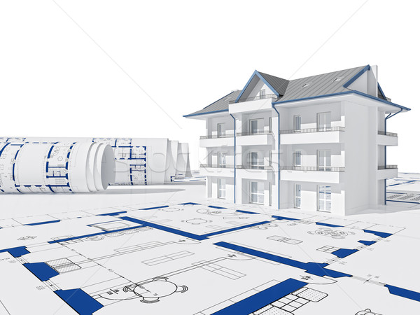 3d house Stock photo © tiero