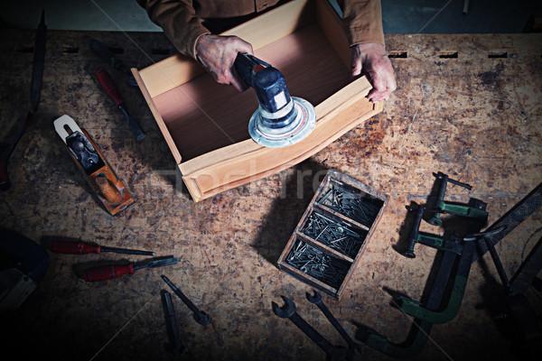 craftman in action Stock photo © tiero