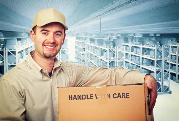 Entrepôt travailleur 3D image classique souriant Photo stock © tiero