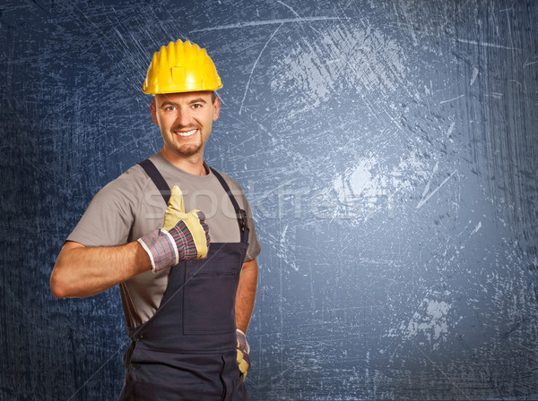 handyman and grunge background Stock photo © tiero